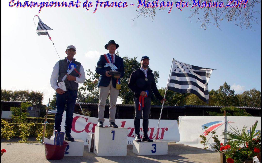 Et le podium des champions de France d'attelage en…