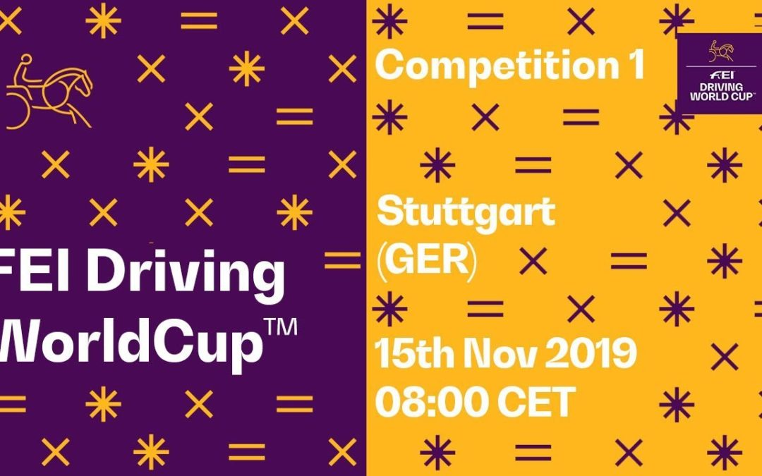 LIVE 🔴 | Competition 1 | Stuttgart (GER) | FEI Driving World Cup™